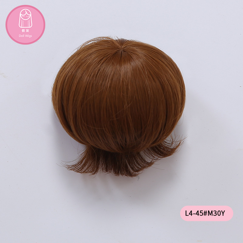 Wig For Doll BJD Free Shipping Wig 7-8 Inch 1/4 High-temperature Short Hair Girl Boy Doll With Bangs Fashion Type Stylish Hair