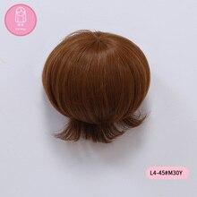 Perruque pour poupée BJD livraison gratuite perruque 7-8 pouces 1/4 haute température cheveux courts fille garçon poupée avec frange mode type élégant cheveux