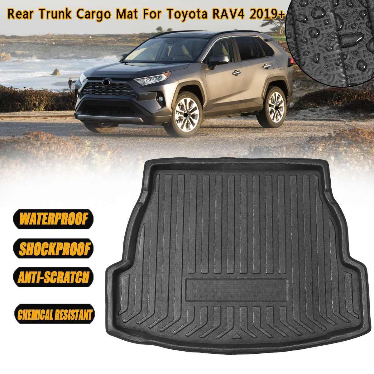 1pcs Black Color Car Boot Pad Carpet Trunk Cargo Liner Floor Mat Molded Cargo Tray Custom Fit For Toyota Highlander 2008 2009 2010 2011 2012 2013