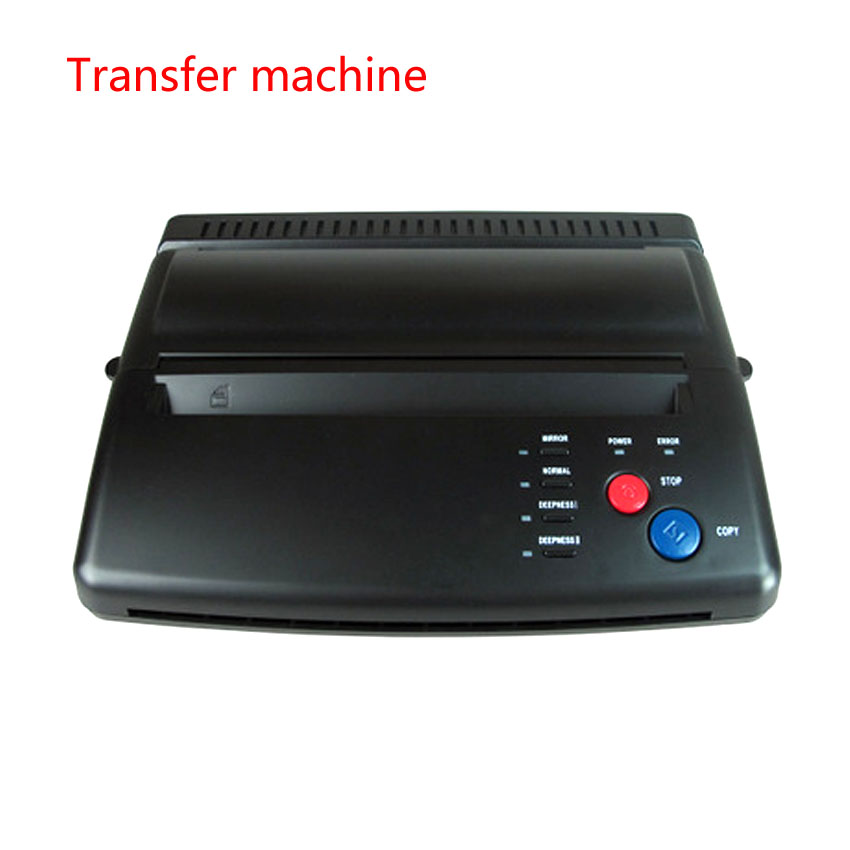 Tattoo Transfer Machine Thermal Stencil Copier Flash Printer Drawing LED Digital Tattoo Supply Body Art and 5pcs Transfer Papers newest mini tattoo transfer machine copier printer drawing thermal stencil copier for tattoo transfer paper dhl free shipping