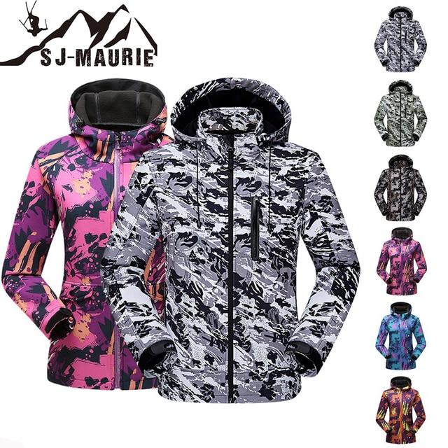 SJ-Maurie высокое качество женские и мужские лыжные куртки сноуборд наборы Снежный костюм женский водостойкий ветрозащитный зимний лыжный костюм M-4XL