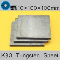 10 100 100mm Tungsten Sheet Grade ISO K30 YG8 44A K1 VC1 H10F HX G3 THR
