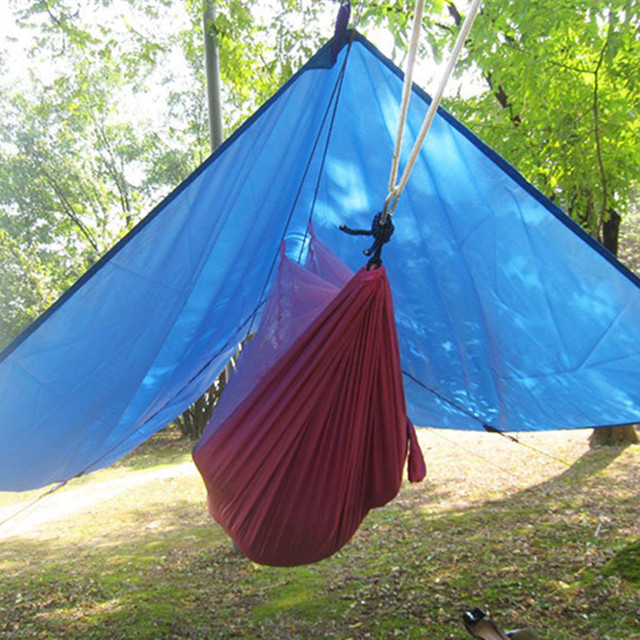 Ultralight Outdoor Portable Hammock Awning Hanging Tent Wear resisting Large Multi functional Mat Folding UV Proof Waterproof