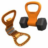 Fitness ajustable hervidor campana kettlebell agarre ejercicio fácil de llevar hombres mujeres Crossfit gimnasio Bodybuilding equipo mancuerna