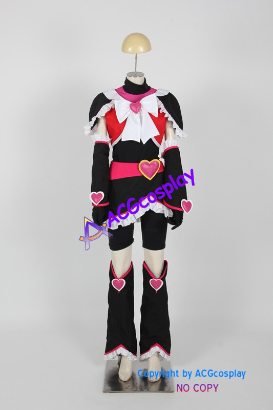 Misumi Nagisa Cure Black Cosplay Costume from Pretty Cure Max Heart cosplay ACGcosplay