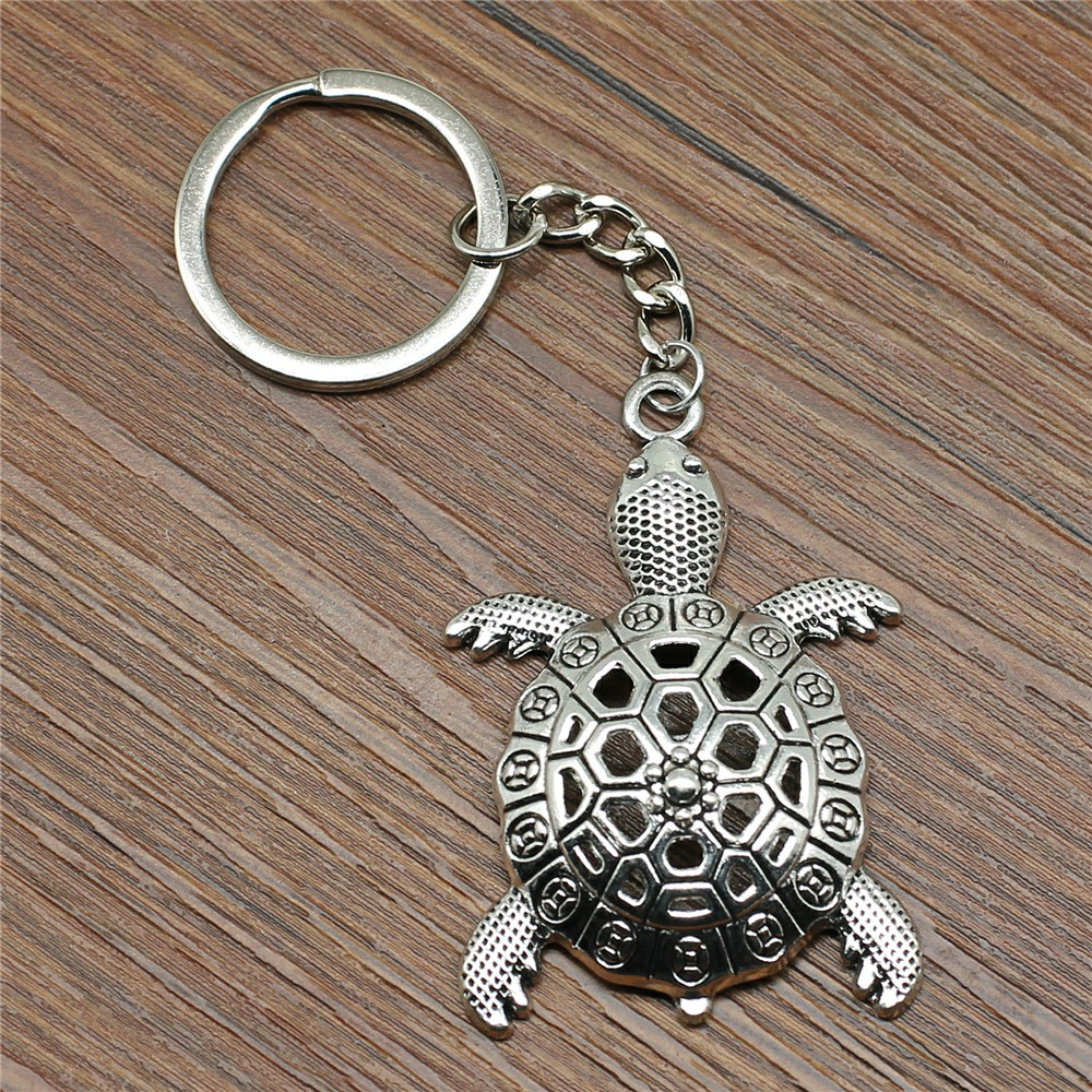 New Fashion Creative Key rings Tortoise Car Key Chain Ring Holder Souvenir Handmade Gift For Boyfriend in Key Chains from Jewelry Accessories