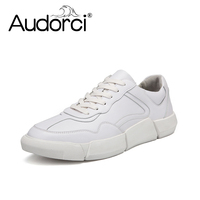 Audorci 2018 Ins Hot Men's Shoes Spring Small White Shoe Fashion Trend Wild Board Shoes Man Casusl Sport Shoes Size 38 44