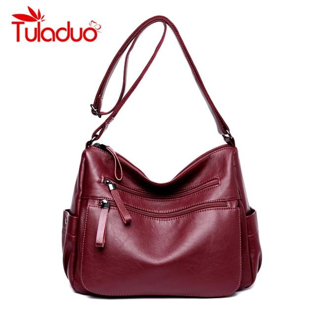 abe8cfdfb663 Женские сумки на плечо, женская сумка, роскошные дизайнерские кожаные сумки,  брендовые двойные молнии