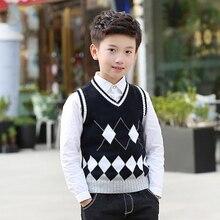 da1815c61 Chaleco de estilo escolar para niñas adolescentes Otoño Invierno algodón  cálido ropa de niños Chaleco de punto sin mangas suéter.