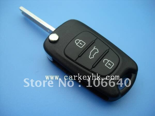 5pcs/lot  Hyundai i30 remote key for 3 button smart flip key with 46 chip and 433Mhz