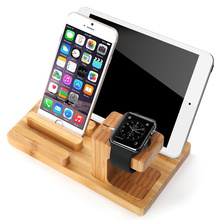 Bamboo Wood Charger Station for Apple Watch Charging Dock Station Charger Stand Holder for iPhone Dock Stand Cradle Holder стоимость