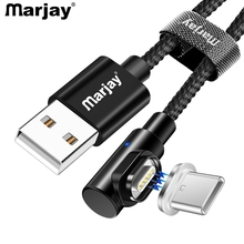 Marjay Magnetic Type-C USB Cable 1m 2m 3A Phone Magnet Quick Charger 3.0 Type C Charge Cord Mobile Fast Charging Wire