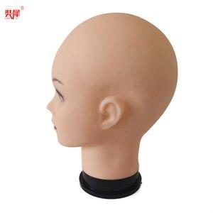 Image 5 - Grande Formato Parrucca Testa Per Lo Stile Dei Capelli Che Fanno di Visualizzazione Cappello Femminile Bambole Testa Calva Mannequin Testa Con Trasporto Libero del supporto da tavolo parrucca Holder
