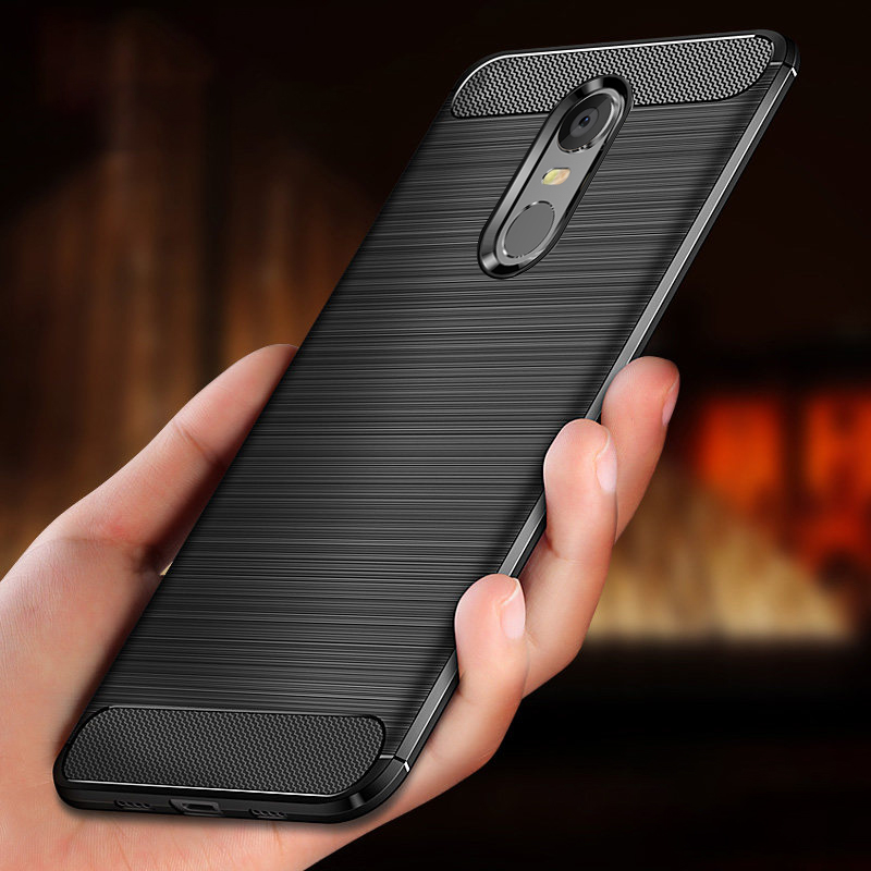 For Xiaomi Redmi 5 Plus Case Carbon Xiaomi Redmi 5 Case Brushed TPU Silicone Protective Back Cover Shockproof for xiami Redmi5