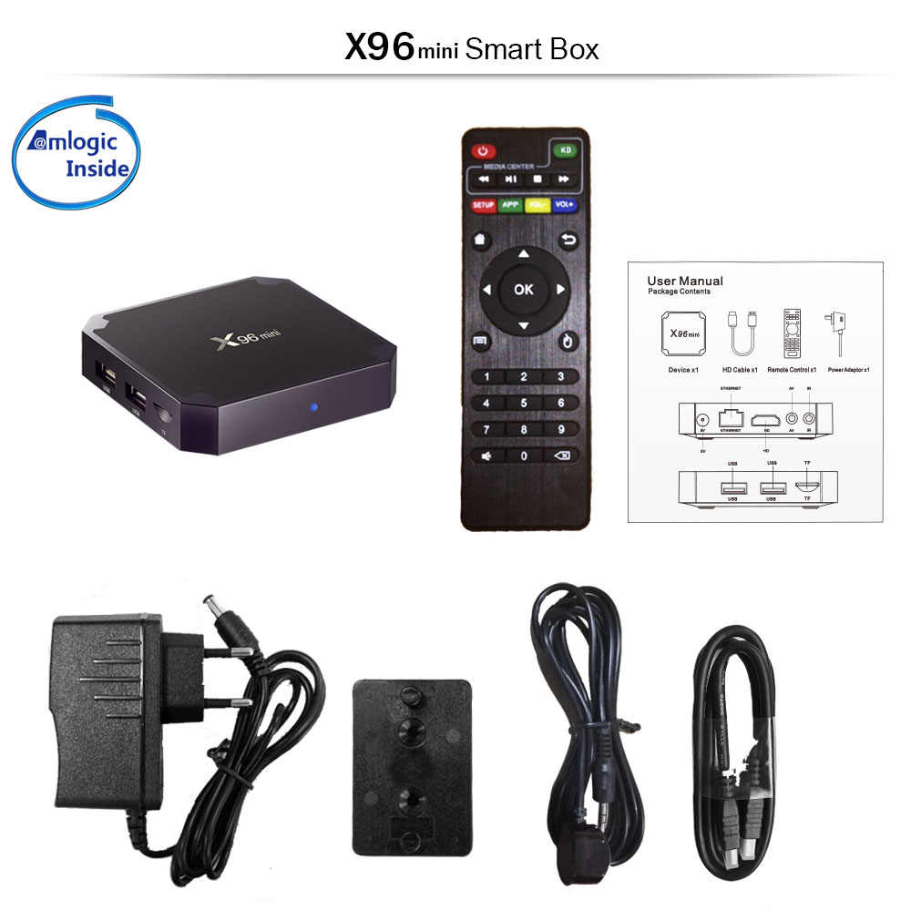 Бессрочная Бесплатная X96mini Android7.1 S905W 8/16 GB M3U MAG Смарт ТВ коробка & Французский NEO подписки Европа Бельгия Франция Арабский IP ТВ