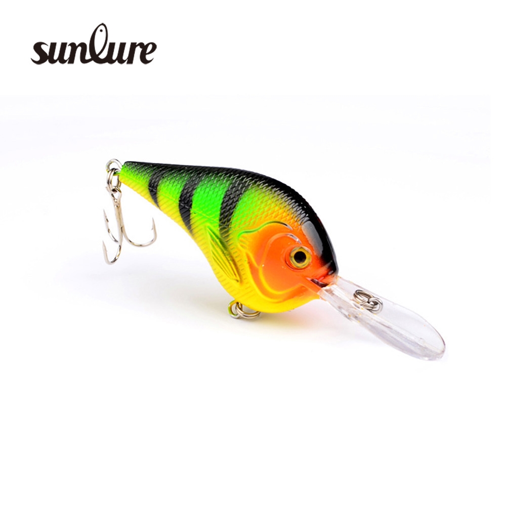 1PC 3D Crank Fishing Lures 8color 11.2g/9.5cm High Quality Pesca lure 6# Hook Wobblers Hard Fishing Tackle Free Ship ZB9054