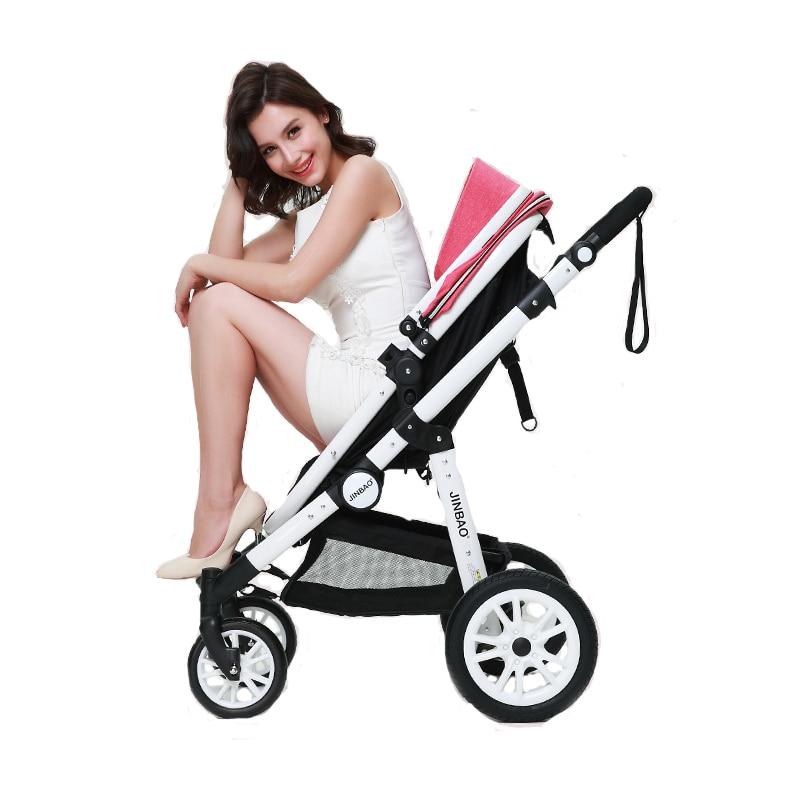 Baby Stroller 2 In 1 High Landscape Prams Sit and Lie Foldin