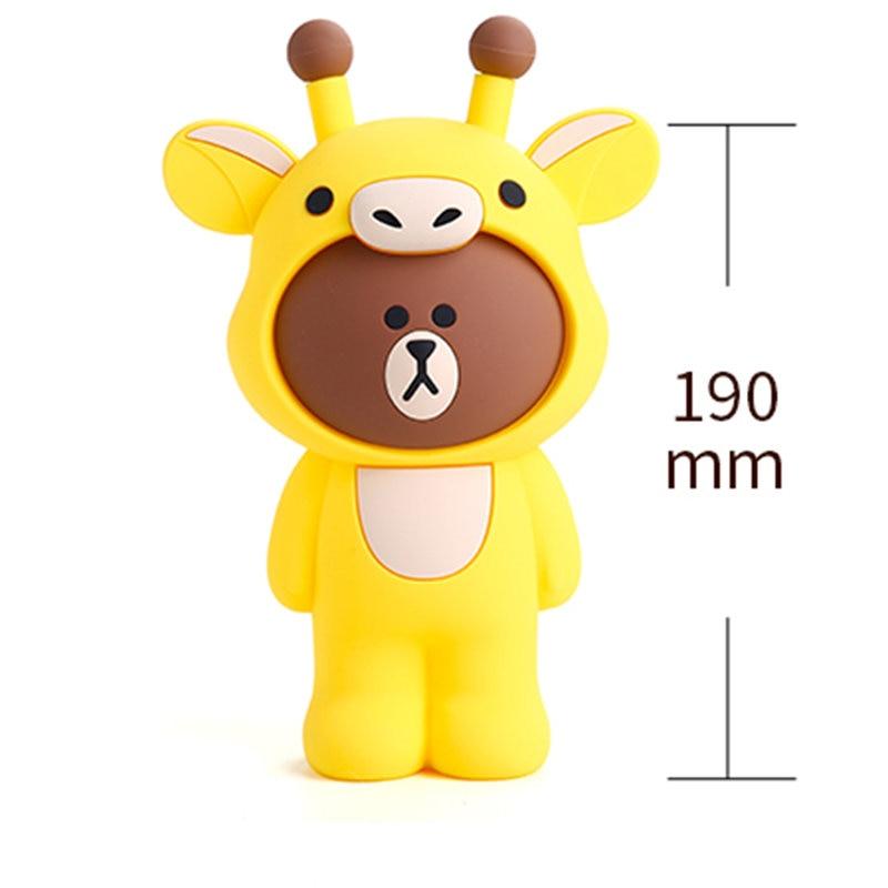 Q UNCLE Pencil Case for Children Stationery Silica Gel Pencil Bag 3D Cartoon Giraffe Pen Case School Supplies Gift