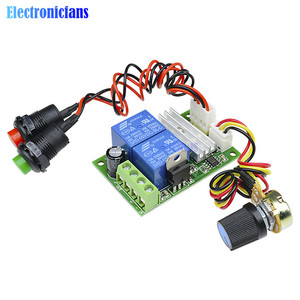 PWM DC Motor Speed Controller Regulator Control Forward Backward Reversible Switch DC 6V 9V 12V 24V 3A With Button Switch