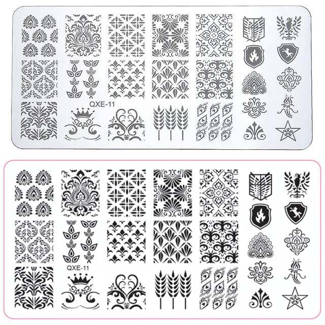 Larger size nail art stamping vintage demask theme design diy larger size nail art stamping vintage demask theme design diy manicure love stamp template image plate maxwellsz
