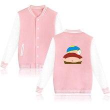 Hip Hop Sitcoms South Park Männer Baseball Jacke BlackMens High Street Hoodie Sweatshirt Plus Größe XXL