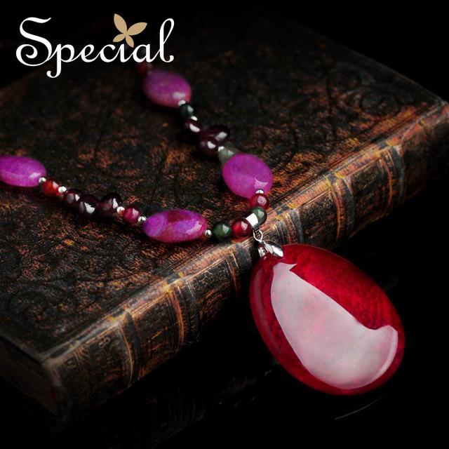 Especial de moda collares y los colgantes de piedra Natural Maxi Vintage collares joyería fina regalos para para XL141135