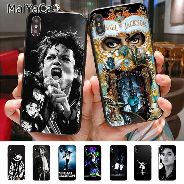 a744b20c56 MaiYaCa michael jackson Diy Luxury High-end Protector phone Case for Apple  iPhone X 8 7 6 6S Plus 5 5S SE 5C cass