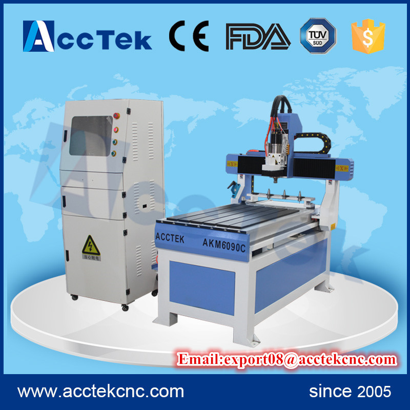Cheap advertising woodworking machine <font><b>atc</b></font> <font><b>cnc</b></font> router <font><b>6090</b></font> with 4pcs linear <font><b>atc</b></font> tool changers image