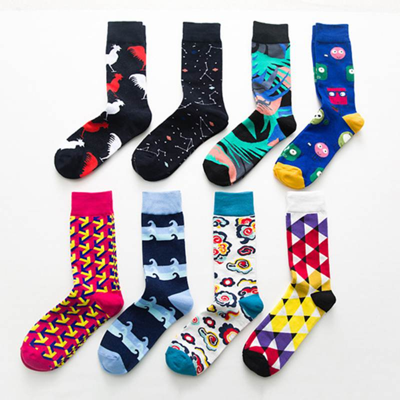 Underwear & Sleepwears Women Men 3d Art Creative Socks British Styling Crew Socks Star Bird Three Cotton Socks Leg Warmer Chaussette Meias Sokken Without Return