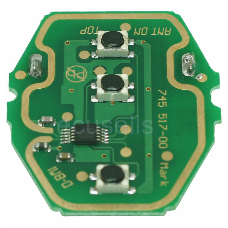 10 Pcs Lot Ews Remote Control Circuit Board 3 Button 315 433mhz For Bmw With Battery Without Key Shell Can Adjust Frequency In From Automobiles