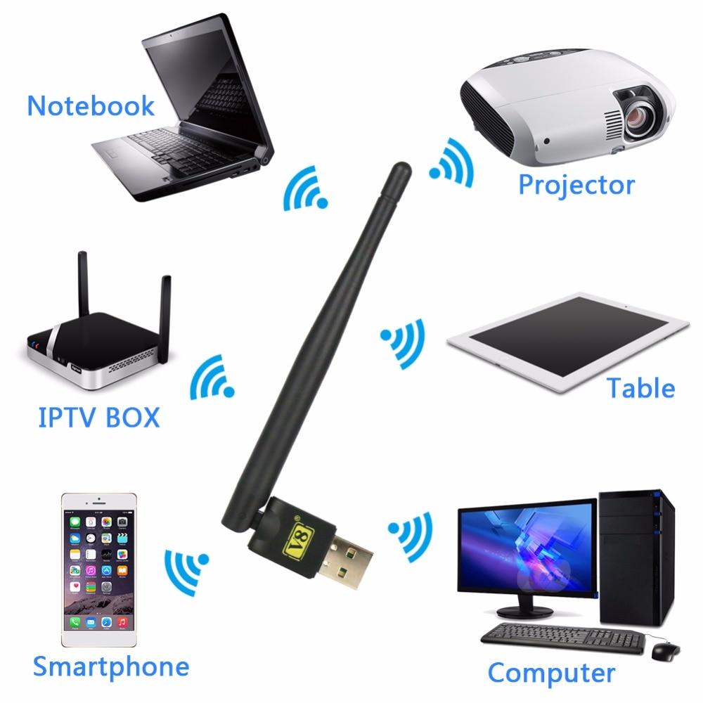 [GENUINE] DMYCO V8 USB wifi Senza Fili Utile RT5370 hd wifi Adattatore USB per DMYCO V7 HD V8 Super v8 dorato Ricevitore Satellitare