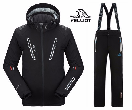 FREE SHIPPING Guarantee Authentic Pelliot Male Ski Suits Jacket Pants Men s Water Proof Thermal Cottom