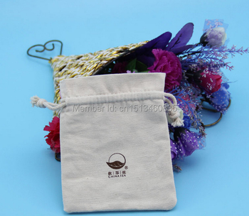 100pcs/lot CBRL small cotton jewelry pouch cotton gift pouch cotton drawstring pouch bag custom logo jewelry bag Iphone5c bag