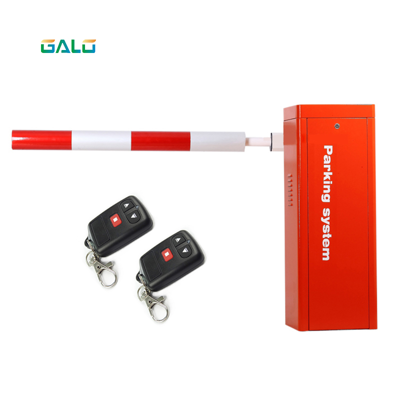 Heavy Duty Festive Orange Red Automatic Boom Barrier Gate For Parking Vehicle Access Boom Optional