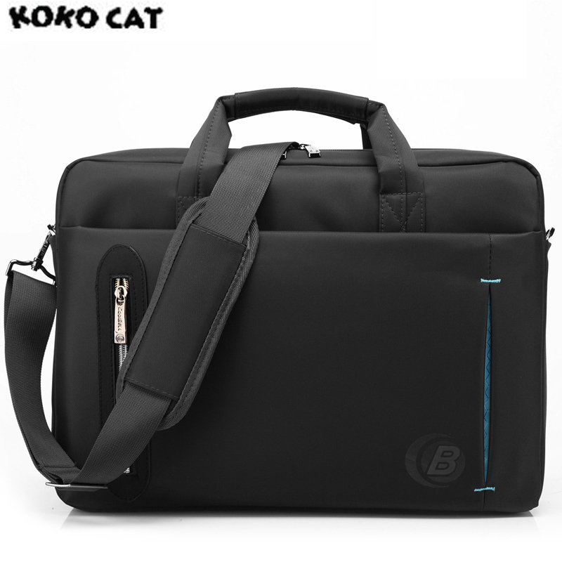 KKCAT Waterproof Crushproof 15.6 inch Notebook Computer Laptop Bag for Men Women Briefcase Shoulder Messenger Bag