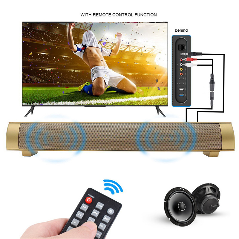 Wireless Bluetooth Speaker with Remote Control TV Enceinte Bluetooth Receiver Speaker Support TF Card for Home Movie Theater cute rabbit 3w bluetooth 2 1 ch speaker w tf remote control white pink