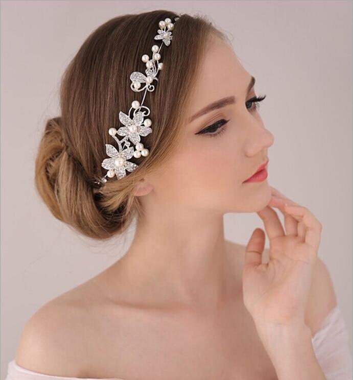 Branco Perola de Cristal de Noiva Tiaras de Casamento Coroa Diadema de Cristal Para A Noiva casamento Joias Cabelo Acessorios