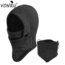 Winter Thermal Fleece Hood Neck Warmer Gorro Caps for Men Women Motorcycle Face Masks Balaclava