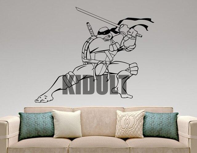 Teenage Mutant Ninja Turtles Leonardo Cartoon Wall Stickers Wall