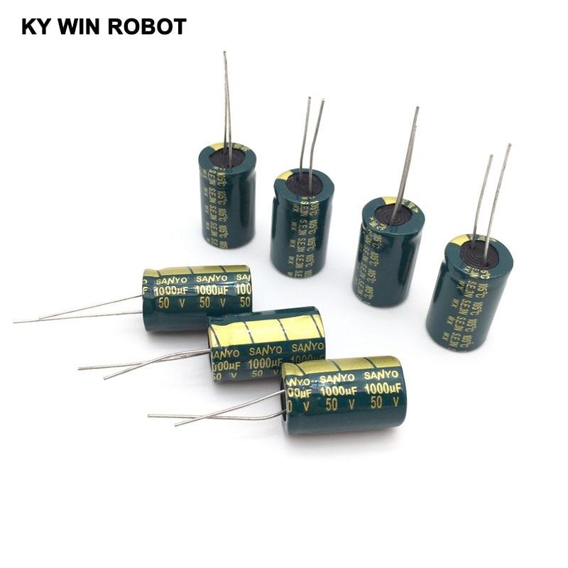 10 Pcs  Aluminum Electrolytic Capacitor 1000 UF 50 V 13 * 20 Mm Frekuensi Tinggi Radial Electrolytic Kapasitor