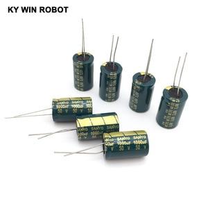 10 pcs Aluminum electrolytic capacitor 1000 uF 50 V 13 * 20 mm frekuensi tinggi Radial Electrolytic kapasitor(China)