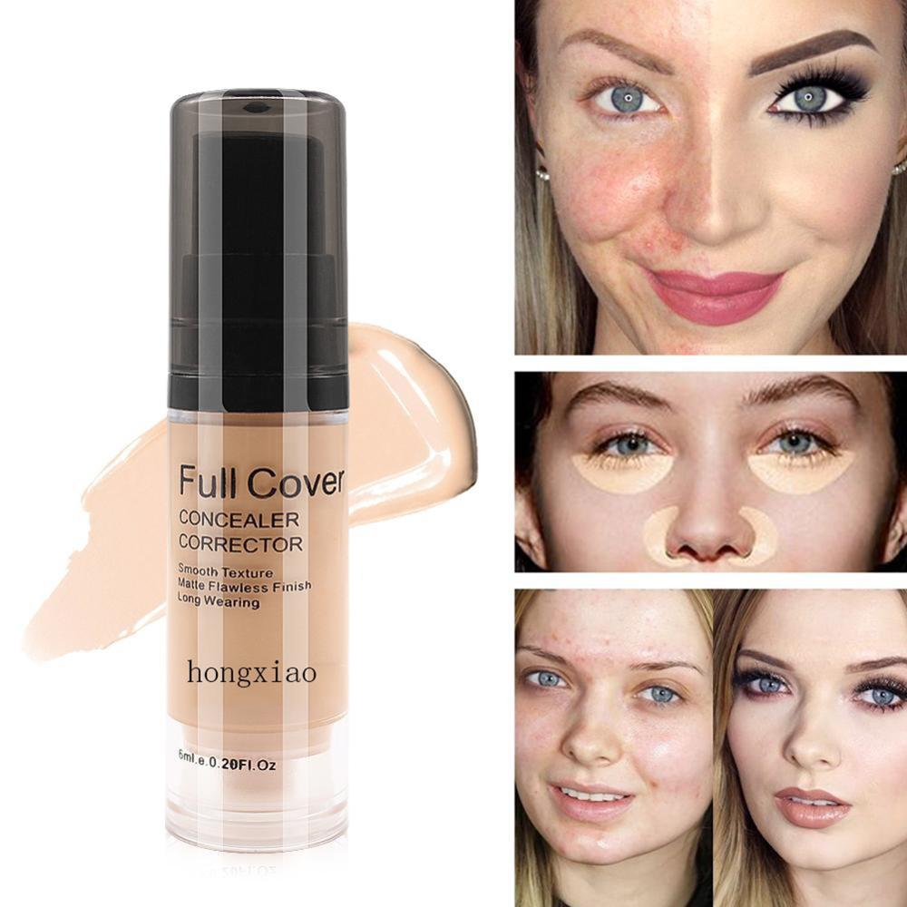 Full Cover Liquid Concealer Makeup 6ml Eye Dark Circles Cream Face Corrector Waterproof Make Up Base Cosmetic image