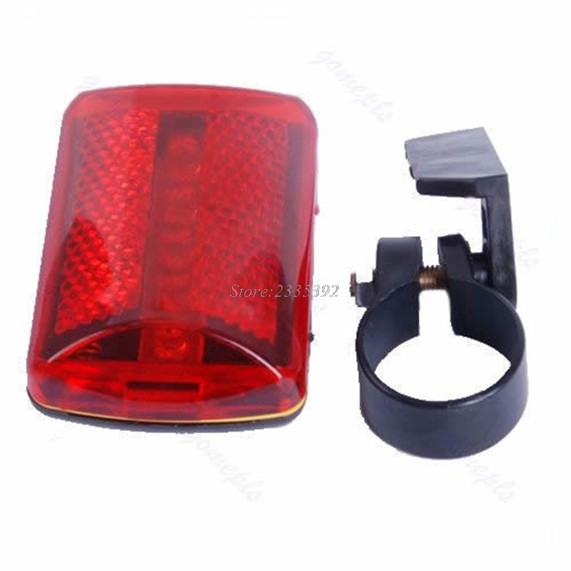 1pc Bicycle 5 LED Rear Tail Red Bike Torch Back Light Bicycle Warning Lamp JUN08