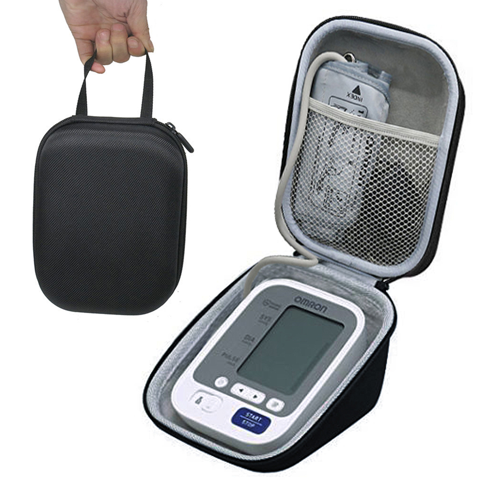 New Hard Travel Carrying Case For Omron 10 Series Wireless Upper Arm Blood Pressure Monitor With Cuff (BP786 / BP785N / BP791IT)