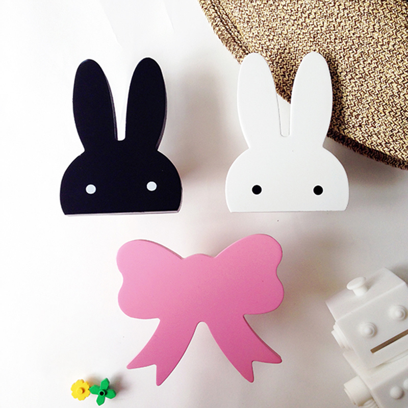Cute Bunny Ganci Di Legno Appendiabiti Da Parete Fai Da Te Coniglio