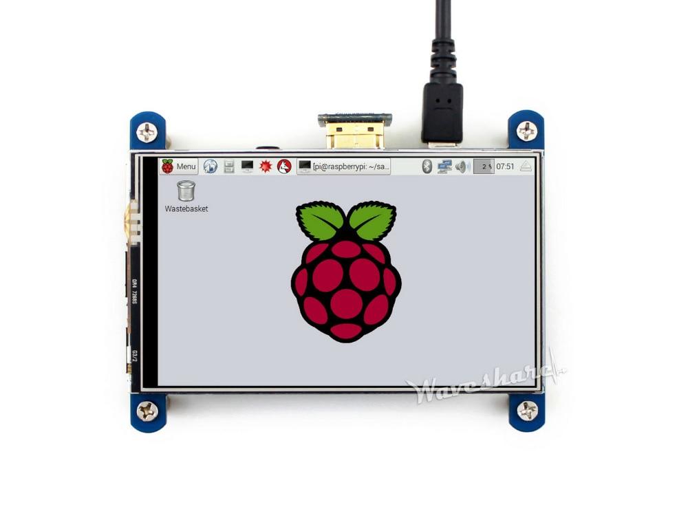все цены на  Modules Waveshare 4inch HDMI LCD Resistive Touch Screen LCD IPS Screen High Resolution 800*480 Designed for Raspberry Pi Raspbia  онлайн