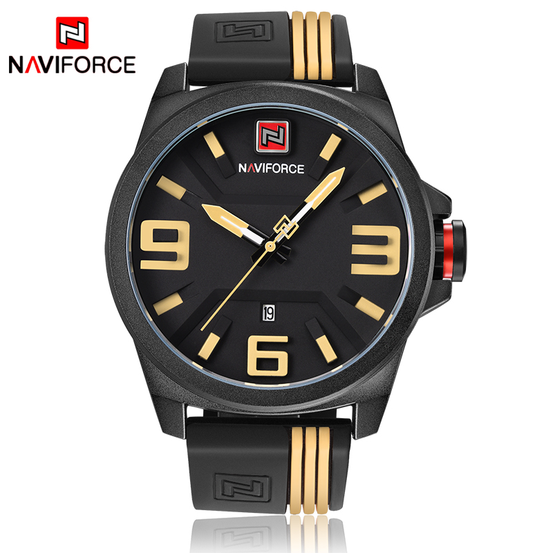 NAVIFORCE Watches Men Top Brand Luxury Quartz Hour Date Clock Male Sport Watch Male Rubber Military Wristwatch relogio masculino 2017 men watches brand hour date week clock male stainless steel luxury quartz watch men casual sport wristwatch