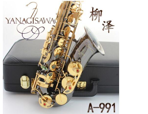 Alto Saxophone instrument Japan YANAGISAWA new  E Alto Saxophone instrument drop / wind / tube black nickel gold Sax brand suzuki eb alto saxophone as 500n drop e saxophone surface to electroplating black nickel gold the paint sax instrument