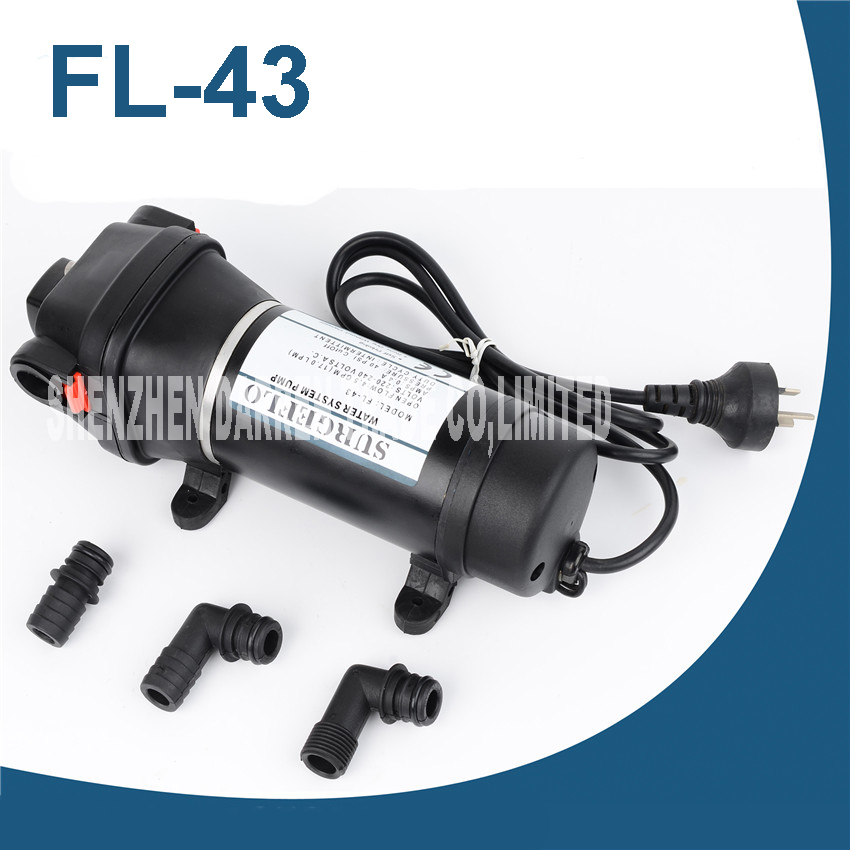 ФОТО FL-43 220V AC Full Auto Family Self-priming pump Membrane To The Water Heater Trail Pipeline of Water Supply
