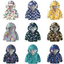 2018 Brand Kids Clothes girls Boys Jackets Children Hooded Windbreaker Toddler Baby Coat Infant Waterproof Hoodies clothing